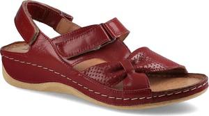 Sandały Pollonus ze skóry z płaską podeszwą w stylu casual