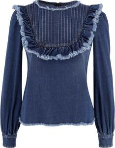 Niebieska bluzka Elisabetta Franchi z długim rękawem