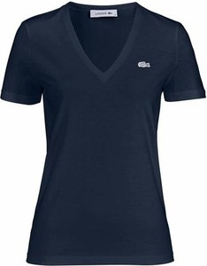 Granatowy t-shirt lacoste