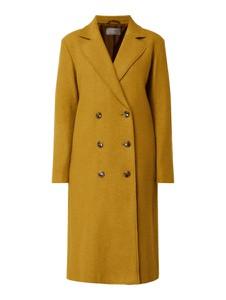 Żółty płaszcz Jake*s Collection z wełny