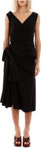Sukienka Marni z dekoltem w kształcie litery v z bawełny midi