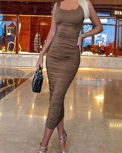 Sukienka Kendallme maxi dopasowana na ramiączkach