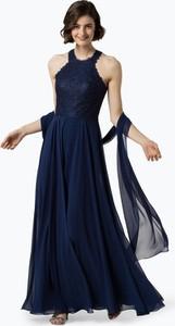 Niebieska sukienka Luxuar Fashion rozkloszowana