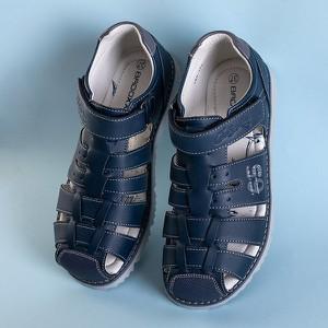 Granatowe buty dziecięce letnie Royalfashion.pl na rzepy