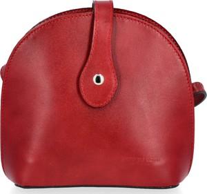 Czerwona torebka VITTORIA GOTTI matowa ze skóry w stylu glamour