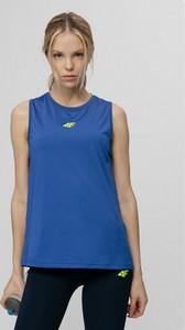 Niebieski top 4F w sportowym stylu z okrągłym dekoltem