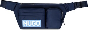Granatowa torba Hugo Boss ze skóry