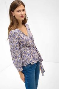 Bluzka ORSAY z dekoltem w kształcie litery v z długim rękawem z tkaniny