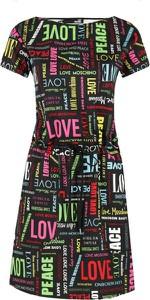 Sukienka Love Moschino mini z krótkim rękawem z okrągłym dekoltem