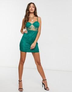 Zielona sukienka NaaNaa mini bodycon