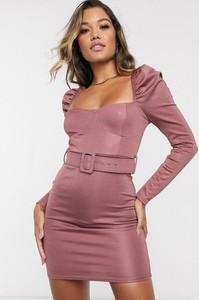 Różowa sukienka Asos Design mini