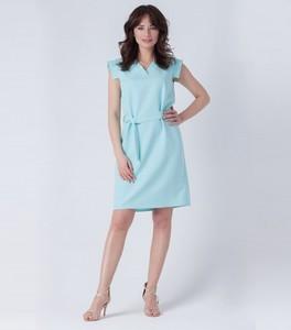 Miętowa sukienka butik-choice.pl midi w stylu casual