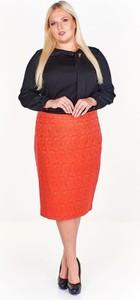 Pomarańczowa spódnica Fokus z szyfonu midi