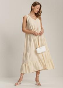 Sukienka Renee maxi z dekoltem w kształcie litery v bez rękawów