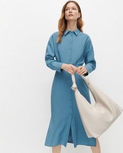 Sukienka Reserved szmizjerka z długim rękawem midi