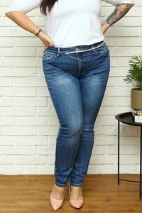 Niebieskie jeansy KARKO z bawełny w stylu casual
