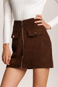 Brązowa spódnica Renee mini