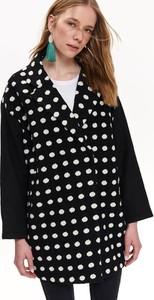 Czarny płaszcz Top Secret w stylu casual