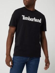 Czarny t-shirt Timberland w młodzieżowym stylu z krótkim rękawem