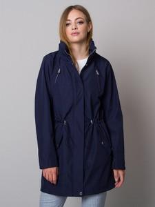 Granatowa kurtka Willsoor z kapturem w stylu casual