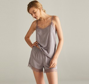 Fioletowa piżama Reserved w stylu casual
