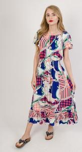 Sukienka Olika w stylu boho maxi z krótkim rękawem