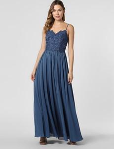 Niebieska sukienka Laona rozkloszowana na ramiączkach maxi