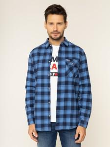 Koszula Tommy Jeans z klasycznym kołnierzykiem z długim rękawem