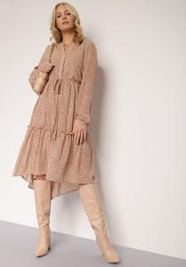 Sukienka Renee z tkaniny asymetryczna