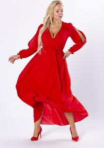 Sukienka Moda Dla Ciebie z dekoltem w kształcie litery v maxi