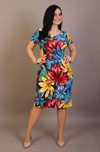 Sukienka Oscar Fashion ołówkowa w stylu casual z krótkim rękawem