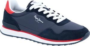 Pepe Jeans London Sneakersy CROSS 4 BASIC | z dodatkiem skóry