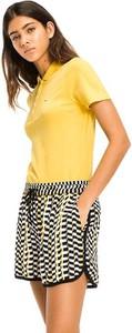 Żółta bluzka Tommy Jeans w stylu casual
