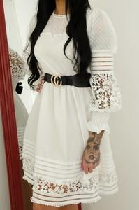 Sukienka Olika w stylu casual mini z długim rękawem