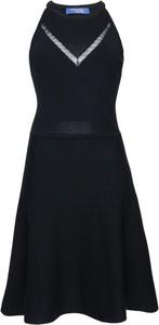 Sukienka Trussardi Jeans trapezowa z okrągłym dekoltem w stylu casual