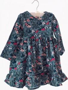 Czarna sukienka dziewczęca Fajnieubieramy w kwiatki