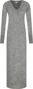 Sukienka Pepe Jeans z wełny maxi w stylu casual