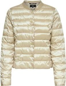 Złota kurtka Only krótka w stylu casual