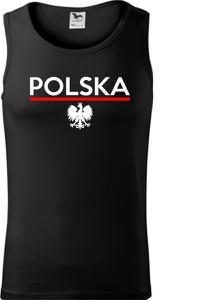 Czarny t-shirt TopKoszulki.pl z bawełny