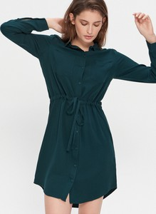 Zielona sukienka House koszulowa mini