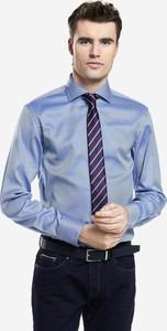 Niebieska koszula Lambert z długim rękawem