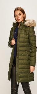 Zielona kurtka Tommy Jeans długa