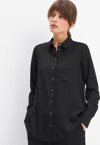 Czarna koszula Mohito w stylu klasycznym z kołnierzykiem
