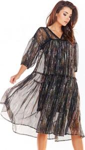 Sukienka Awama mini z dekoltem w kształcie litery v