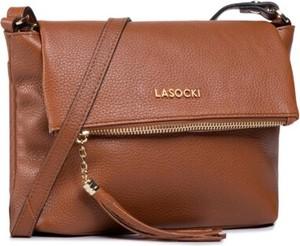 Brązowa torebka Lasocki w stylu boho