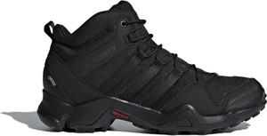 Czarne buty sportowe Adidas sznurowane z goretexu