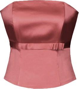 Czerwona bluzka Fokus bez rękawów w stylu glamour