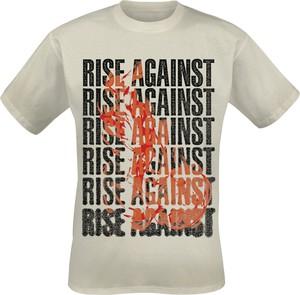 T-shirt Rise Against z bawełny z krótkim rękawem