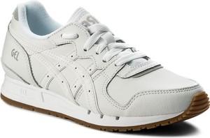 Buty sportowe asics ze skóry z płaską podeszwą