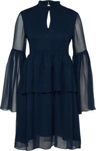 Granatowa sukienka Tigha z długim rękawem w stylu casual
